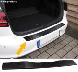 Ladekantenschutz Stoßstangenschutz Edelstahl Carbon für Mercedes Vito W447 ab 14