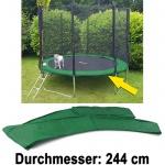 Sicherheits Schutz Rand Abdeckung für Trampolin Sprungfedern 244 CM grün