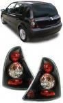 Klarglas Rückleuchten schwarz für Renault Clio II 01-05