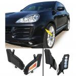 KLARGLAS LED BLINKER MIT STANDLICHT SCHWARZ FÜR Porsche Cayenne 06-10