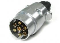 Auto Anhänger Adapter Stecker universal 7 polig ISO 1724 Alu für 12v