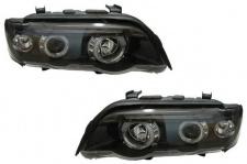 Klarglas Angel Eyes Scheinwerfer H1 H1 schwarz für BMW X5 E53 99-03