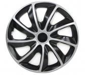 Radkappen Radzierblenden für Stahlfelgen Set Tenzo-R I 13 Zoll schwarz silber