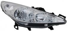 H1 / H7 Scheinwerfer rechts TYC für Peugeot 207 CC WD 07-