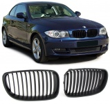 Sport Kühlergrill Nieren Facelift schwarz matt für BMW 1er E81 E82 E87 E88 07-12