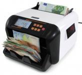 Geldzählmaschine Wertzähler Banknoten Geldzähler weiß mit 2 Displays TYP 3