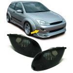 Klarglas Blinker schwarz Paar mit Leuchtmittel für Ford Focus 98-01