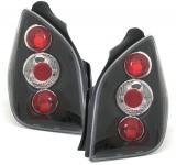 Klarglas Rückleuchten schwarz für Citroen C2 ab 03