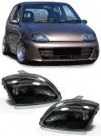 Schwarze H4 Scheinwerfer für FIAT Seicento / 600 98-09