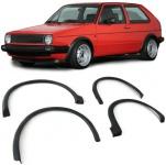 Radläufe Kotflügel Kunststoff Radlauf Verbreiterungen 4tlg für VW Golf 2 83-87