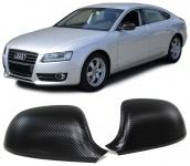 Aussen Spiegelkappen Abdeckungen Cover Carbon Optik für Audi A3 8P A4 B8 A5 8T