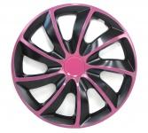 ** Radkappen Radzierblenden für Stahlfelgen Set Tenzo-R I 15 Zoll schwarz pink