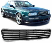 Sport Kühlergrill ohne Emblem chrom schwarz für Audi 80 B4 Limousine Avant 91-96