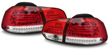 LED Rückleuchten mit LED Blinker rot klar für VW Golf 6 Limousine