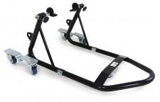 Motorrad Montage Ständer rollbar Kompakt Variabel mit 2 Haltern schwarz 340kg