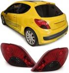 LED Rückleuchten rot schwarz für Peugeot 207 3 und 5-Türer 06-12
