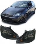 Klarglas Scheinwerfer H7 H1 schwarz - Paar für Ford Focus 01-04