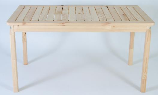 Massivholz Tisch EVJE Nordisches Design Esstisch Natur, ca. 135 x 77 x 70 cm