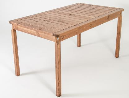 Massivholz Tisch EVJE Nordisches Design Esstisch Braun, ca. 135 x 77 x 70 cm