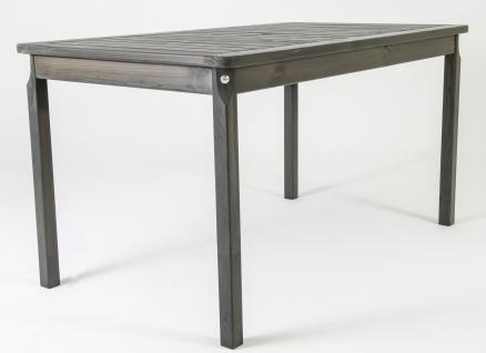 Massivholz Tisch EVJE Nordisches Design Esstisch Taupegrau, ca. 135 x 77 x 70 cm