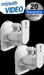 2 x Wandhalterung Halter Boxen Wandhalter Lautsprecher bis 3, 5kg
