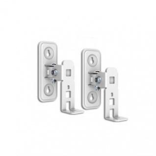 2 Stück Lautsprecher Wandhalter für SONOS PLAY: 1 Weiß