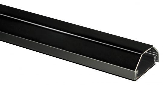 Kabelkanal Aluminium schwarz B:33mm L:100cm 2 Teilig