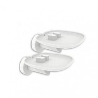 2 Stück Lautsprecher Wandhalter für SONOS ONE weiß