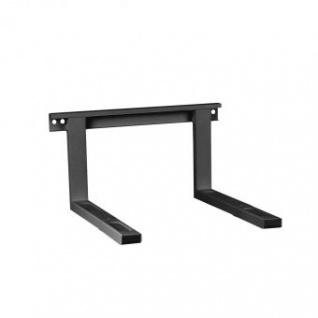Mikrowellenhalterung Belastung bis 35 kg ausziehbar Schwarz