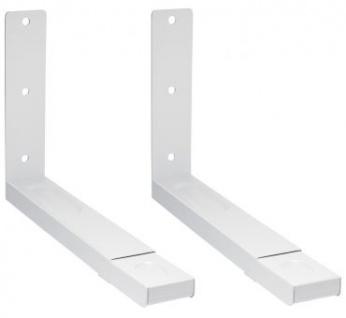 Mikrowellenhalterung Belastung bis 35 kg ausziehbar weiß