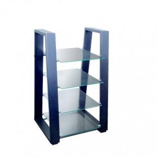 HiFi Regal mit Einlegeboden aus Sicherheitsglas
