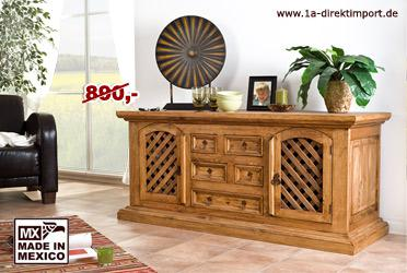 mexico m bel sideboard anrichte pinie massiv kaufen bei 1a direktimport. Black Bedroom Furniture Sets. Home Design Ideas