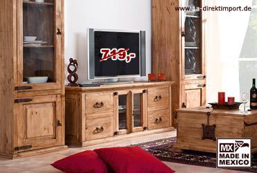 Riesen MEXICO Hacienda TV Tisch/Lowboard/Kommode