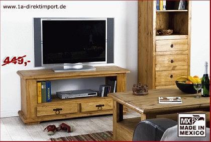 MEXICO Hacienda TV-Tisch Lowboard, Pinie - Vorschau