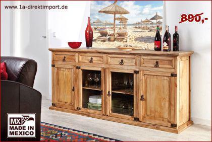 MEXICO Möbel: Sideboard / Anrichte, Pinie massiv - Kaufen ...