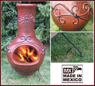 Schicker MEXICO Gartenofen/Terassenofen/Ofen, groß