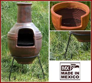 Original MEXICO Terrassenofen Grill Ofen Grillkamin, groß+schön - Vorschau