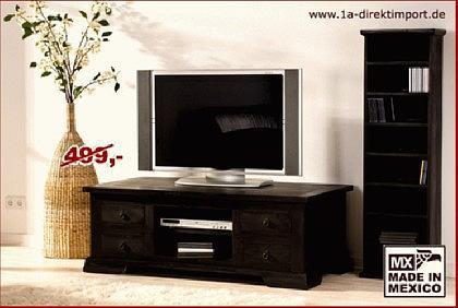 Kolonial TV-Tisch / Lowboard / Couchtisch, Pinie - Vorschau