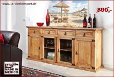 MEXICO Sideboard Highboard Schrank, Pinie