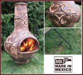 Exklusiver MEXICO Terrassenofen / Feuerschale