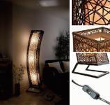 Exklusive Stehlampe Stehleuchte Lampen mit Rattan