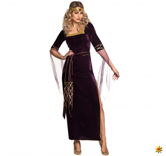 Damen Kostüm Mittelalter Lady Eleanor, Kleid 1
