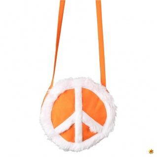 Hippie Tasche Peace, orange