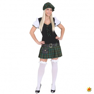 Kostüm Scottish Girl, Kleid Schottin grün