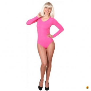 Damen & Kinder Langarm-Body pink