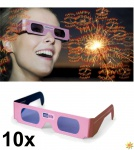 "10 Stück Rosa Brille "" Happy Birthday"""
