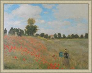Monet - Les Coquelicots: Leinwand Reproduktion