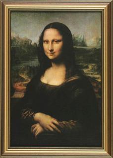 Da Vinci - Mona Lisa: Leinwand Reproduktion