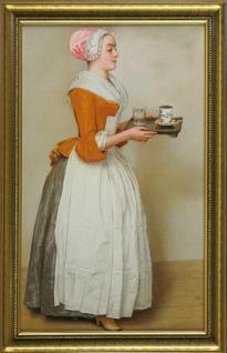 "Liotard- ""Das Schokoladenmädchen"" Leinwand gerahmt"
