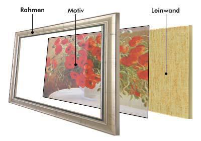 Monet - gelbe Seerosen - Leinwand Reproduktion - Vorschau 3